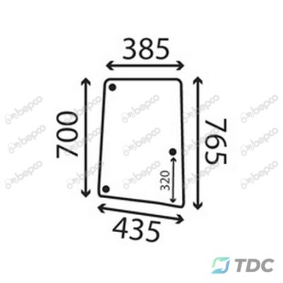 Šoninis stiklas DP (26/4047-70)