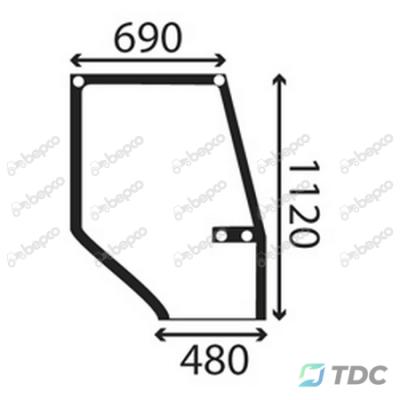 Viršutinis durų stiklas DP (25/4038-8)