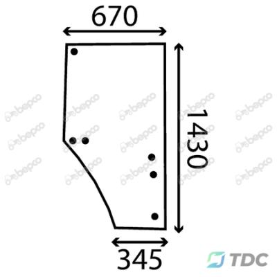 Duru stiklas DP (26/4038-10)
