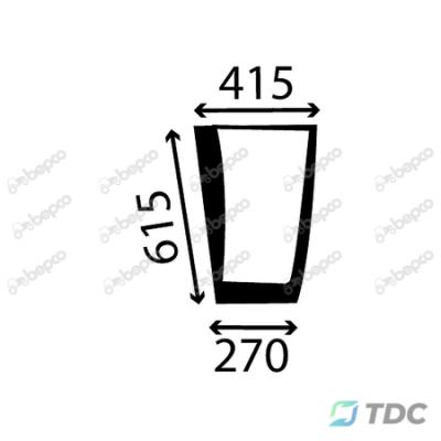 Kabinos durų stiklas KP (25/4011-9)