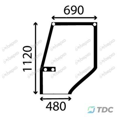 Viršutinis durų stiklas KP (25/4039-8)