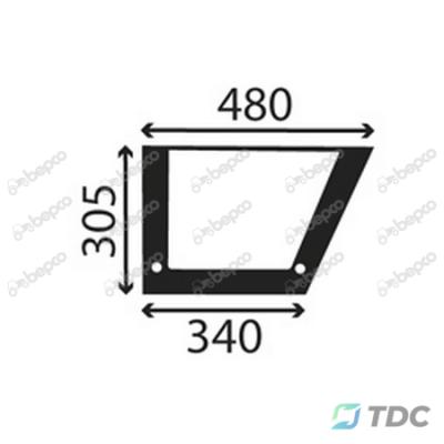 Apatinis kabinos durų stiklas (25/4032-14)