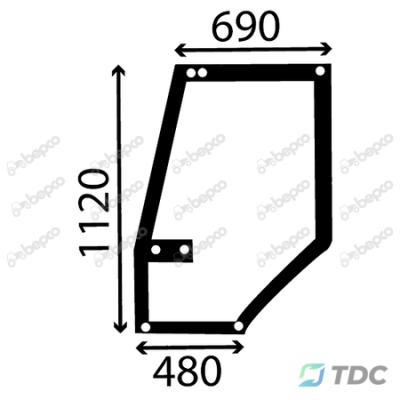 Durų stiklas KP (25/4039-7)